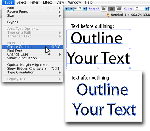 Outlining Fonts